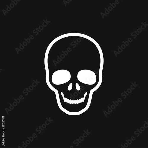 Skull icon vector sign symbol for design Tablou Canvas