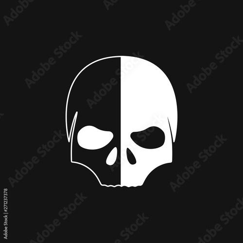 Skull icon vector sign symbol for design Fototapet