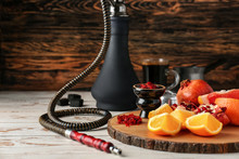 Hookah With Tobacco And Fresh ...