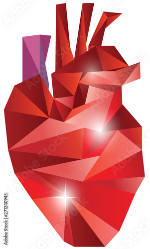Vector polygonal heart for Valentine's day #271240945