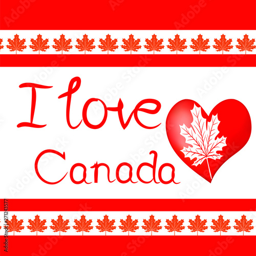 Fotografie, Obraz Design elements for Canada Day first of July. Vector