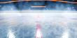 Leinwanddruck Bild - Hockey ice rink sport arena empty field