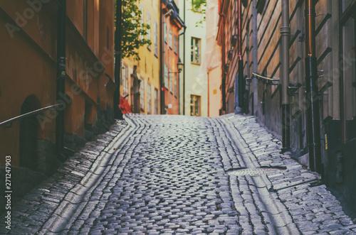 Foto auf Gartenposter Stockholm Gamla stan street