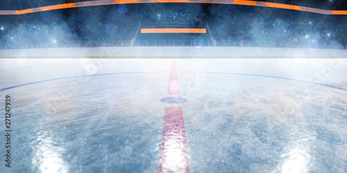 Hockey ice rink sport arena empty field Canvas Print