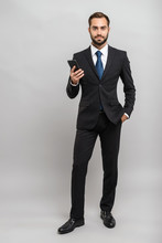 Full Length Of An Attractive Young Businessman