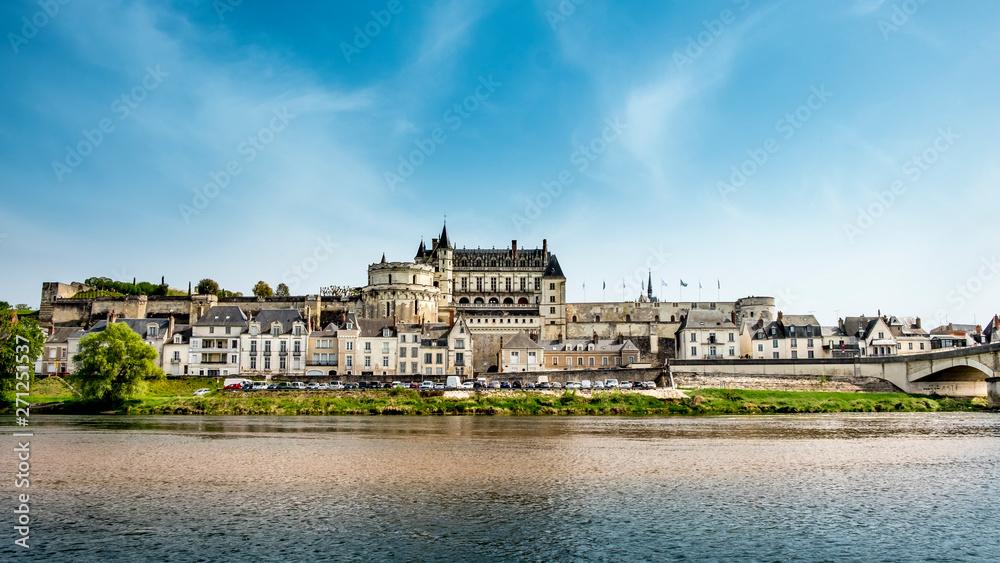 Fototapety, obrazy: Amboise medieval castle, Leonardo Da Vinci tomb. Loire Valley, France, Europe.
