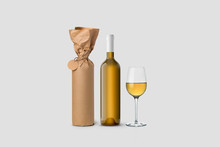 Wine Bottle And Glass Wrapped ...