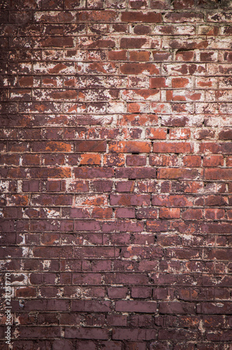Fotografía  Old Dirty Red Brick Wall Background