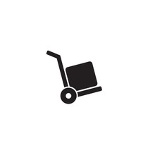Vector Icon Cart With Box On W...