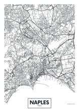 City Map Naples, Travel Vector...