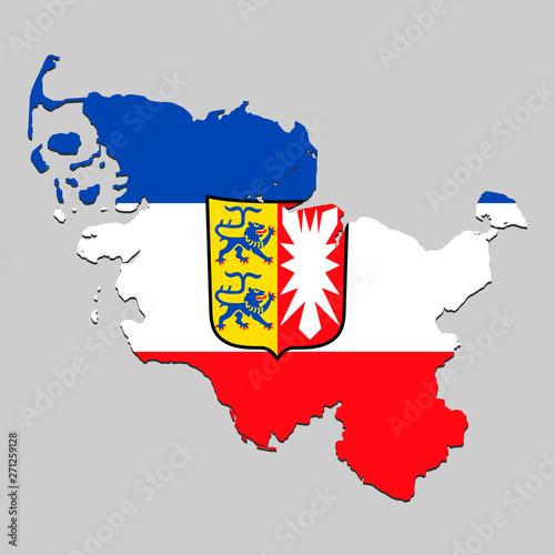 Obraz Map with national flag - fototapety do salonu