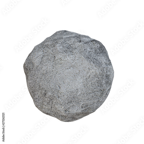 3d rendering of stone boulder Canvas Print