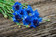 Bouquet Of Blue Cornflowers Cl...