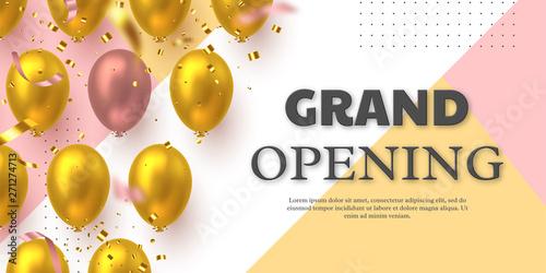 Fotografía  Grand opening ceremony vector banner