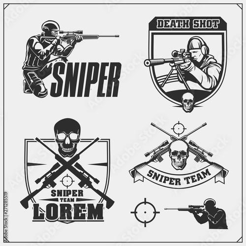 Fotografie, Obraz Sniper emblems for sport team