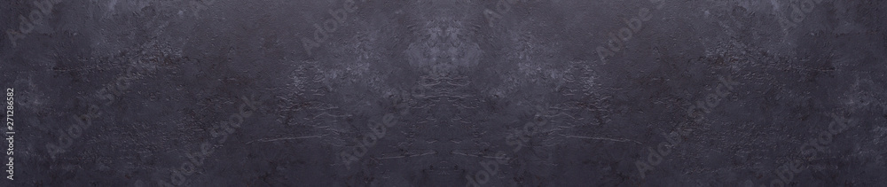 Dark stone texture background Copy space Panorama Banner