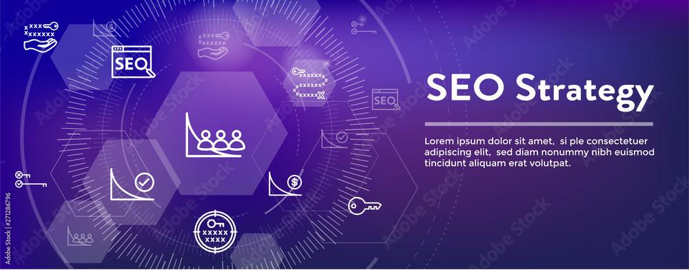Photo  SEO Strategy - Search engine optimization concept - keywords, etc