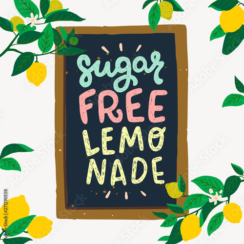 Photo Sugar Free Lemonade inscription in frame