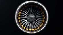 3D Illustration Jet Engine, Cl...