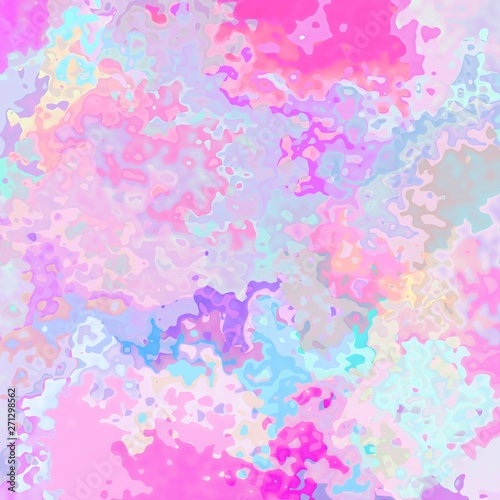 Fényképezés  abstract stained pattern texture square background holographic cute pink blue vi