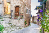 Fototapeta Uliczki - Medieval town of Artena, Lazio, Italy