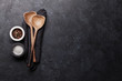 Leinwandbild Motiv Cooking utensils and spices