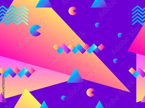 Valokuvatapetti Seamless pattern with geometric shapes and gradient