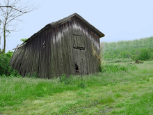 Rural Shed Or Barn That Is Falling Down
