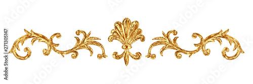 Foto  Gold ornament baroque style vignette