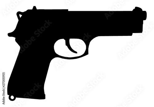 Pistolet Canvas Print
