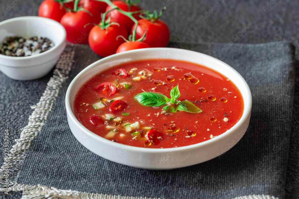 Fototapeta Portion of gazpacho