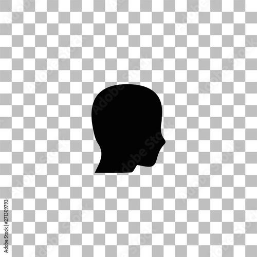 Fotografie, Tablou  Head icon flat