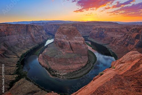 Foto auf Leinwand Grau Verkehrs Colorful scenic landscape in the Desert Southwest, Arizona, USA.