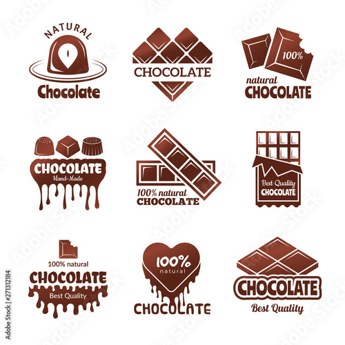Chocolate logo Fototapeta