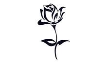 Tattoo Flower Vector Design Bl...