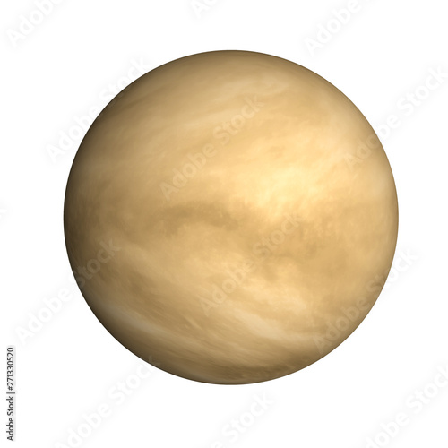 Leinwand Poster High detailed Venus planet of solar system with atmosphere isolated on white background