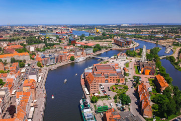 FototapetaAerial view of Gdansk old town in summer scenery, Poland