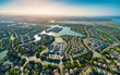 Leinwanddruck Bild - Aerial view of residential real estate homes in Foster City, CA