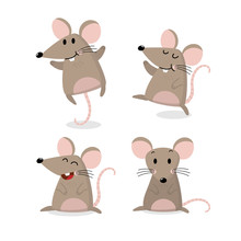 Cute Mouse Vector Set. Little ...
