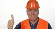 Engineer Smile Pleased and Thumbs Up Making a Good Job Hand Sign