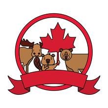 Happy Canada Day Vector Illustration