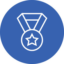 1st Place Award Medal Outline Icon