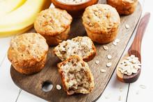 Banana Muffins With Oatmeal
