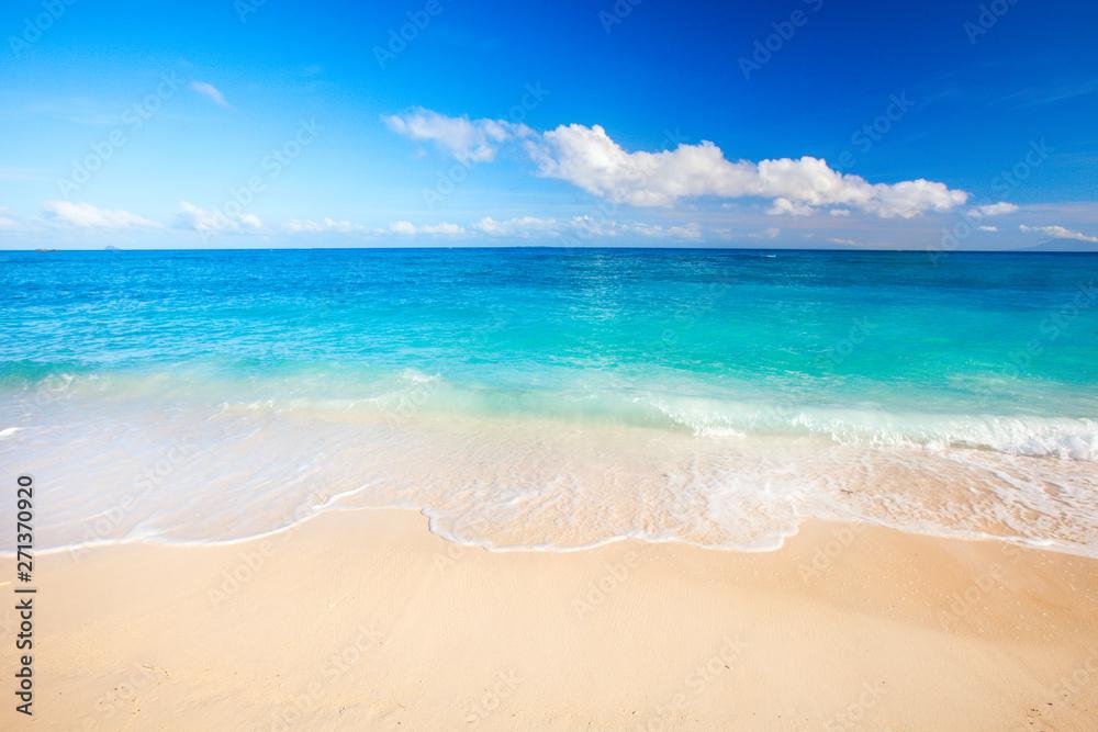 Fototapety, obrazy: tropical beach and sea