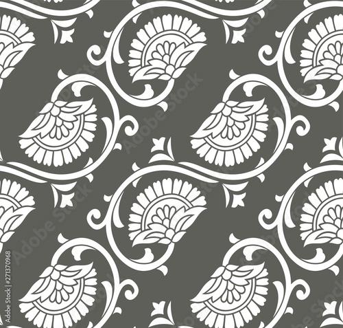 bezszwowe-srebrny-kwiatowy-wzor-tapety