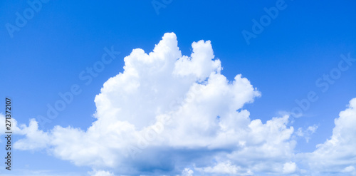 plakat Clouds and blue sky background.