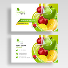 Farm Fresh Template, Banner Or Flyer Presentation With Illustration Of Fresh Fruit For Healthy Life.