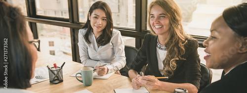 Obraz Diverse businesswoman leaders  in office meeting room - fototapety do salonu