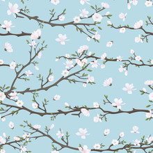 Seamless Pattern With Flowerin...