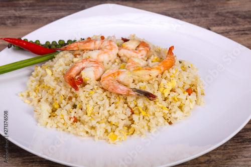 Fotografie, Obraz  Thai style fried rice with prawn